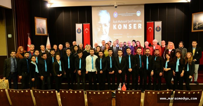 KSÜ, ÂŞIK MAHZUNİ ŞERİF'İ KONSERLE ANDI