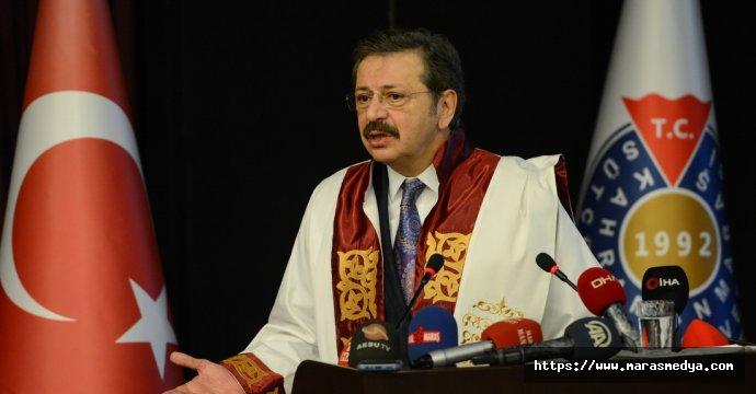 HİSARCIKLIOĞLU'NA FAHRİ DOKTORA UNVANI