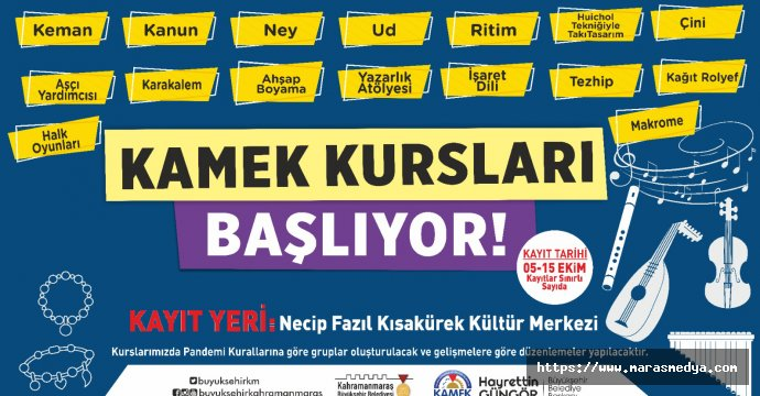 KAMEK KURSLARI BAŞLIYOR!