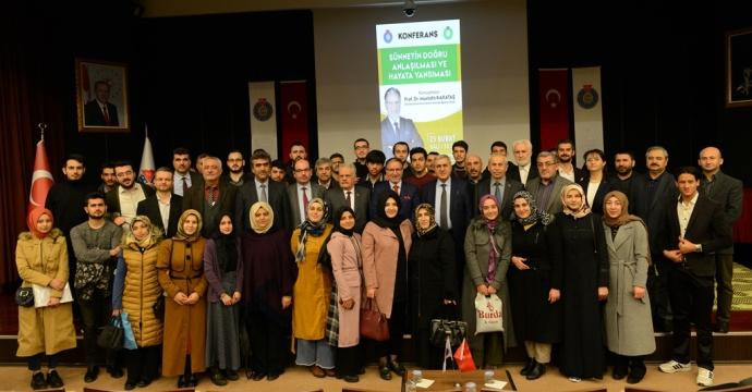 PROF. DR. KARATAŞ, KSÜ'DE KONFERANS VERDİ