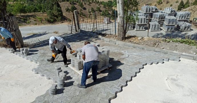 ELMALAR SOSYAL TESİSİ'NDE ÇALIŞMA