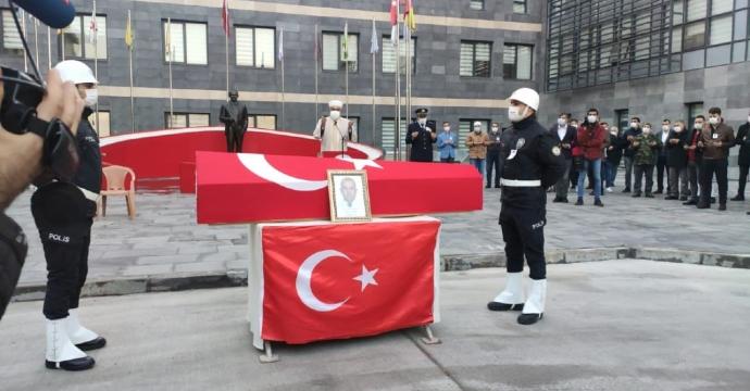ŞEHİT POLİS MEMURU İÇİN TÖREN DÜZENLENDİ