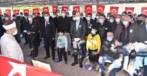 ŞEHİT POLİS MEMURUNA VEDA